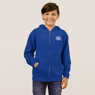 Kid's Zip Hoodie Heather Blue