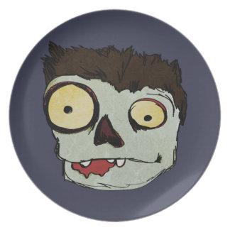 Kids Zombie Halloween Plate