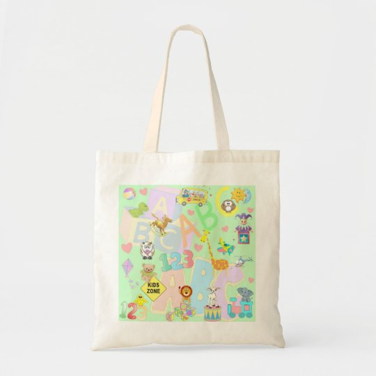 kids zone tote bag