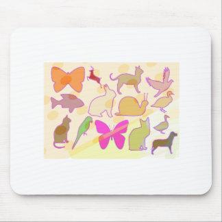 KIDS ZOO : Animal Cartoon Collections Mousepad