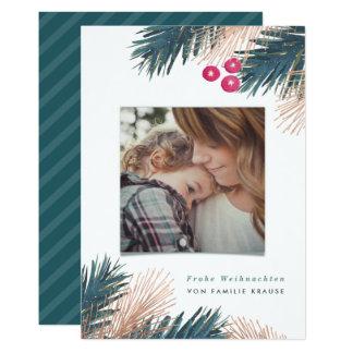 Kiefer und Beeren Weihnachten 13 Cm X 18 Cm Invitation Card
