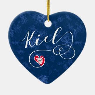 Kiel Heart, Christmas Tree Ornament, Germany Christmas Ornament