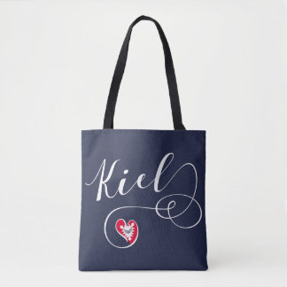 Kiel Heart Grocery Bag, Germany Tote Bag