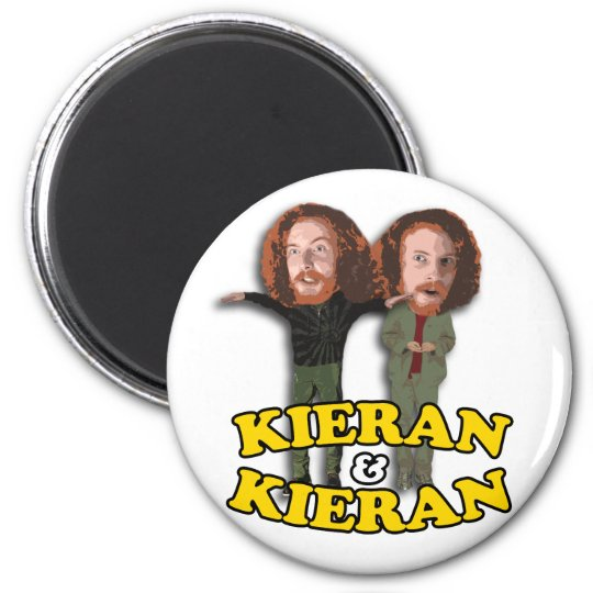 Kieran and Kieran Button Magnet