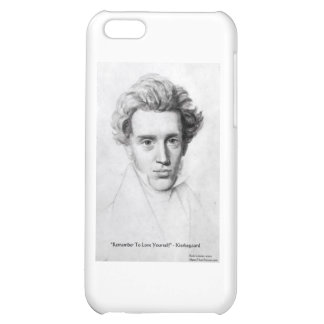 """Kierkegaard """"Love Yourself"""" Love Quote Gifts Etc iPhone 5C Covers"""