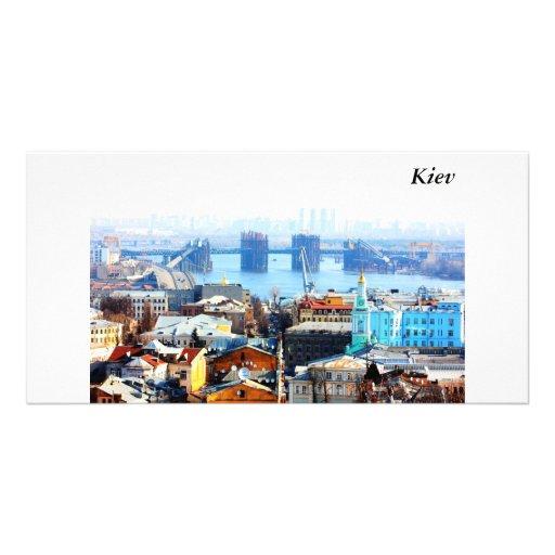 Kiev bussines and industrIal city, Kiev Photo Greeting Card