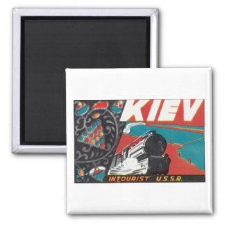 Kiev Intourist USSR Square Magnet