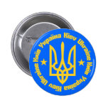 Kiev, Ukraine - English & Ukrainian Language Pinback Buttons