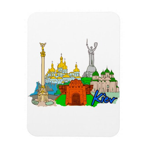 Kiev - Ukraine.png Rectangular Magnets