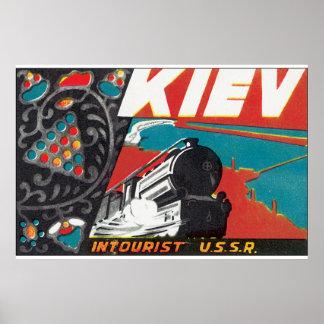 Kiev_Vintage Travel Poster Artwork