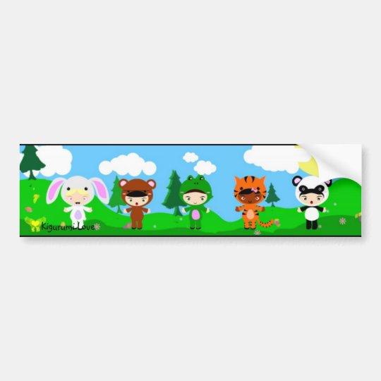 Kigurumi Love girls Bumper Sticker