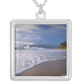 Kihei Beach, Maui, Hawaii, USA Silver Plated Necklace
