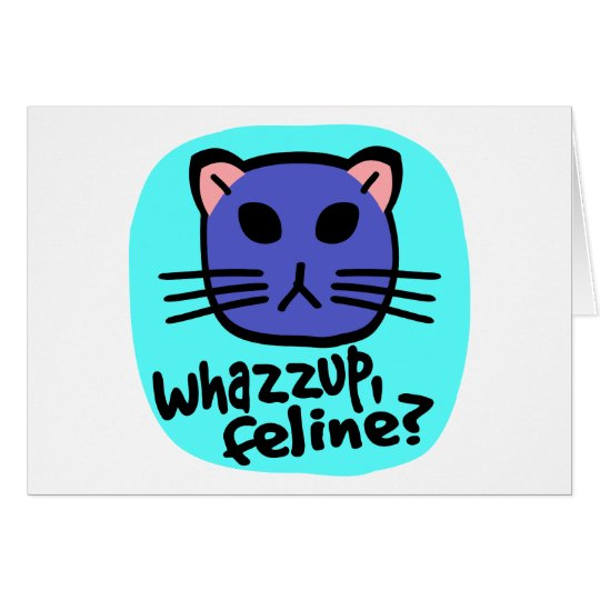 Kiki Kitty Face, Whazzup, Feline? With Background Card