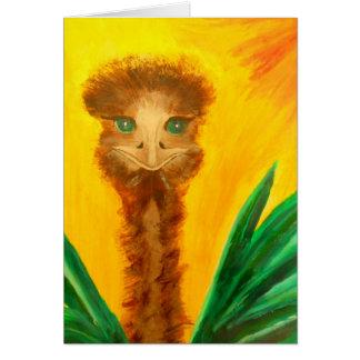 Kiki - Ostrich Greeting Card