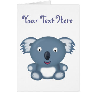 Kiki the Koala Bear Customizable Greetings Card