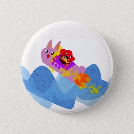 Kikko the sky 6 cm round badge