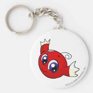 Kiko Red Basic Round Button Key Ring