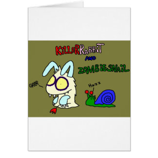 Kil smiles rabbit greeting card