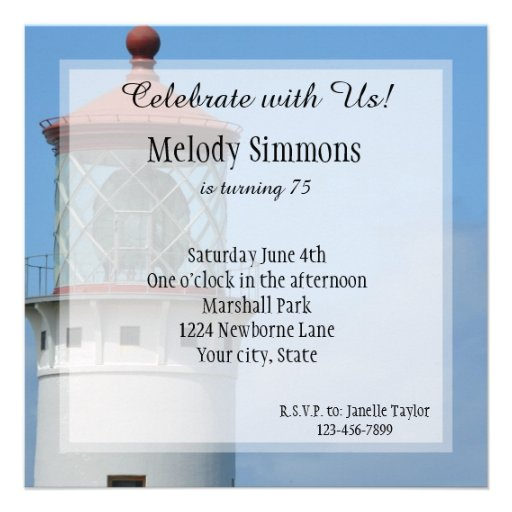 Kilauea Lighthouse Invitations