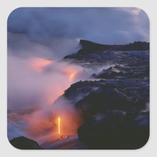 Kilauea Volcano, Hawaii Volcanoes National Park, 2 Square Sticker