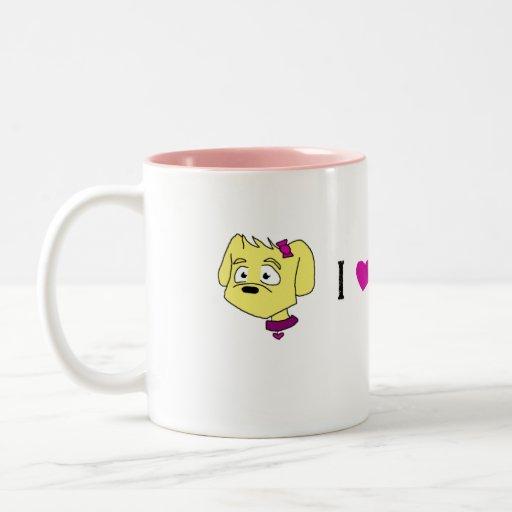 """Kiley"" I Love My Dog Mug"