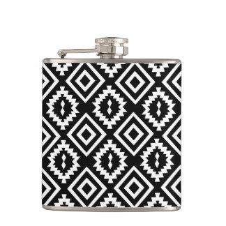 kilim,geometric ethnic pattern hip flask