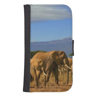 Kilimanjaro And Elephants Samsung S4 Wallet Case
