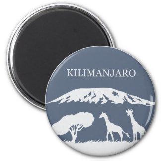 Kilimanjaro (Blue) 6 Cm Round Magnet