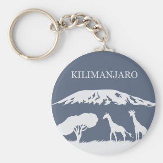 Kilimanjaro (Blue) Basic Round Button Key Ring