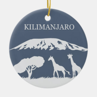 Kilimanjaro (Blue) Round Ceramic Decoration