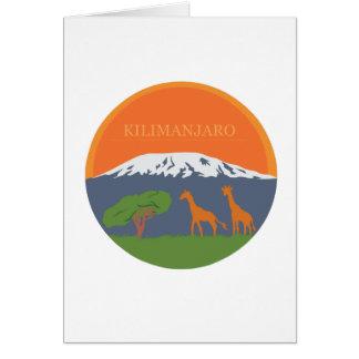 Kilimanjaro Greeting Card