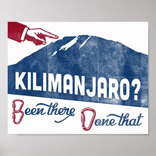 Kilimanjaro Poster Mountain Climbing Souvenir