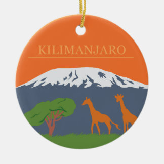 Kilimanjaro Round Ceramic Decoration