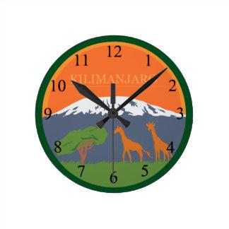 Kilimanjaro Round Clock