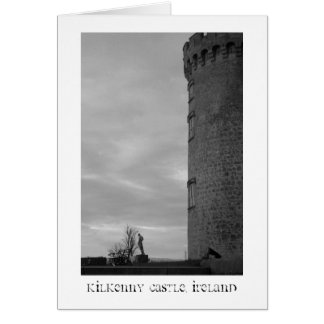 Kilkenny Castle B W Title Greeting Cards