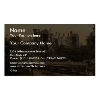 Kilkenny Castle. Co. Kilkenny, Ireland magnificent Business Card Template