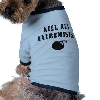 Kill all extremists doggie tee