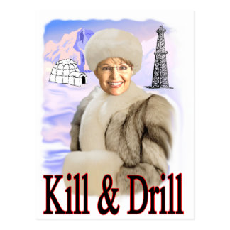 kill and drill postcard