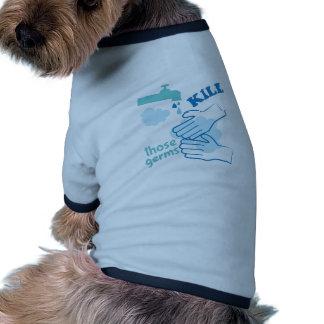 Kill Germs Ringer Dog Shirt