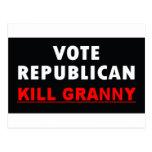 Kill Granny - Vote Republican Postcard