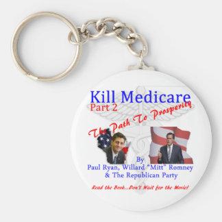 Kill Medicare Part 2 Basic Round Button Key Ring