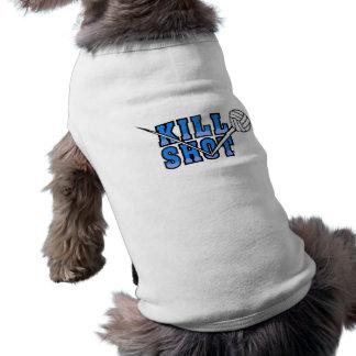 kill shot volleyball design sleeveless dog shirt