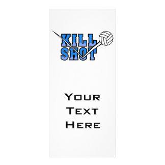 kill shot volleyball design rack card design