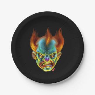 Killa Klown Monster Paper Plate 7 Inch Paper Plate