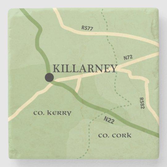 Killarney County Kerry Ireland Road Map Stone Beverage