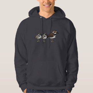 Killdeer & two chicks hooded sweatshirt