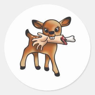Killer Bambi Classic Round Sticker