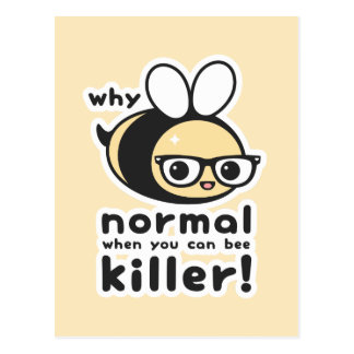 Killer Bee Postcard