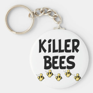 Killer Bees Basic Round Button Key Ring