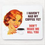 Killer Coffee Bad Girl Mousemats